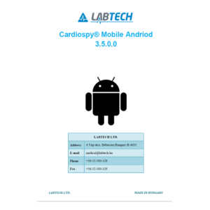 User manual for Cardiospy Mobile software
